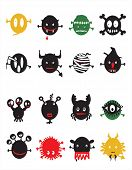 funny icon set - monsters and Halloween -