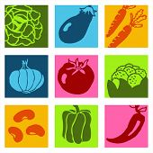 Vegetables icons 1