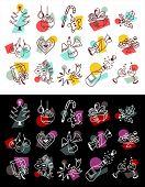 Christmas 50's icons