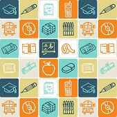 school check pattern - illustrations - icons set -