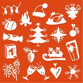 stock photo of reveillon  - Christmas silhouettes 3 - JPG