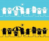 silhouettes cartoon - summer time