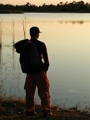 Hiker Watching Sunset