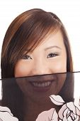 Smiling Portrait Young Teen Asian Girl Veil