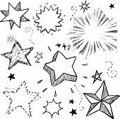 Постер, плакат: Звезды и взрывы эскиз