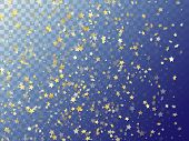 Star Shining Gold Gradient Sparkles On Transparent Background. Glittering Vector Magic Stars Gold Fa poster