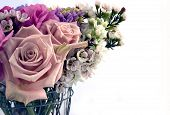 stock photo of flower arrangement  - isolated arrangement perfect for invitations or cards - JPG