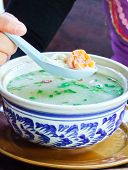 Traditional Thai Gruel With Egg