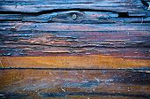 Burnt Wooden Texture  Naturally Background Horizontal Boards poster