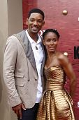 LOS ANGELES - JUNE 7: Jada Pinkett Smith and Will Smith at the premiere of 'The Karate Kid' at the M