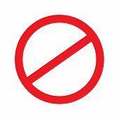 No Sign. Vector. Stop Sign. Vector Illustration. poster