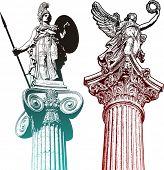 Classic statues
