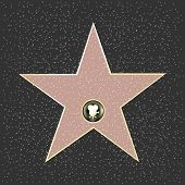 Walk Of Fame Type ster, vectorillustratie