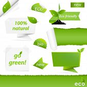 stock photo of runaway  - Eco Green Set - JPG
