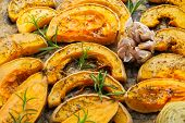 Baked Roasted Grilled Orange Pumpkin Butternut Squash And Sweet Potato poster