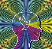 Woman Gains Peace Of Mind. Meditation To Reach The Stage Of Spirituality And Enlightenment poster