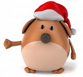 stock photo of santa-claus  - Dog and christmas - JPG