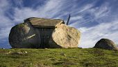 Stone house in the top of a moutain, north of Portugal