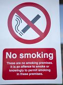 No Smoking Sign On The Street Saying Not To Smoke Here poster