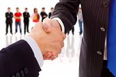 Handshake Business Partner nach dem deal