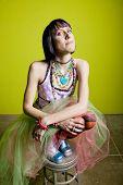 Colorful Punk Woman