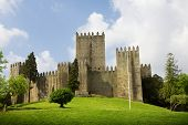 Guimaraes Castle, and surrounding park, in the north of Portugal. European Capital of Culture 2012