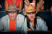 Shocked Couple With 3D Glasses