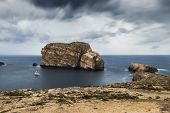 Fungus Rock, On The Coast Of Gozo, Malta poster