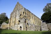 Ruins of Battle Abbey near the site of the battle of Hastings in England