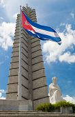 Vista vertical del memorial José Martí en la Plaza de la revolución en la Habana, Cuba
