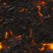 stock photo of magma  - Seamless magma or lava texture with melting rocks and fire - JPG