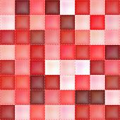 Red seamless checkered textile texture