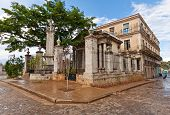 El Templete in Old Havana. This is a neoclassic building and the place where the foundation of the t