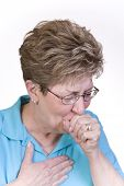 pic of cough  - Woman suffering with a bad cough and cold - JPG