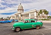 HAVANA-SEPTEMBER 1:Classic Chevrolet  near the Capitol September 1,2011 in Havana.Under the law that should change before 2012,Cubans can only buy and sell cars that were in use before 1959
