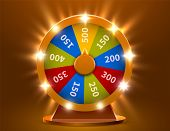 Wheel Of Luck Or Fortune. Gamble Chance Leisure. Colorful Gambling Wheel. Jackpot Prize Concept Back poster