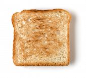 Toast slice isolated on white background close up. Top view. poster