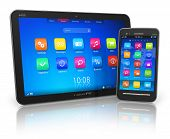 Tablet PC e smartphone touchscreen