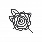 Rose Vector Icon On White Background. Rose Icon In Modern Design Style. Rose Vector Icon Popular And poster
