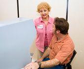 Volunteer Explains Voting Machine
