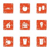 Environmental Pollution Icons Set. Grunge Set Of 9 Environmental Pollution Icons For Web Isolated On poster
