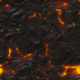picture of magma  - Seamless magma or lava texture with melting rocks and fire - JPG