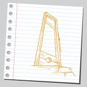 picture of guillotine  - Guillotine - JPG
