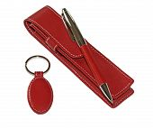 picture of etui  - trade advertising pen case and trinket isolated over white - JPG