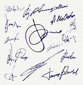 Signature Vector Autograph Name