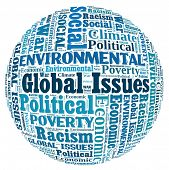 Global Issues in word collage