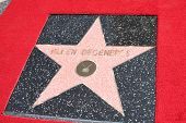 LOS ANGELES - SEP 4:  Ellen DeGeneres Star at the Hollywood Walk of Fame Ceremony for Ellen Degenere