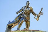 Monument Of World War Ii In Ukrainian Steppes poster