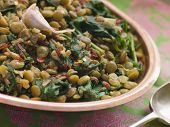 Lentils With Spinach And Garlic