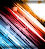 Antecedentes de resplandor de las luces con los colores del arco iris y Lights. Ideal para fondo de negocios